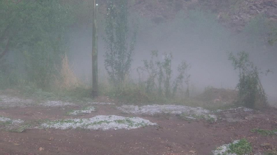 Fuerte tormenta en el Valle Grande
