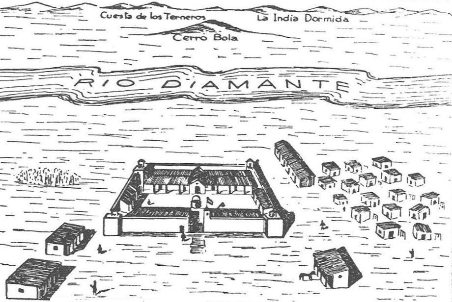 El primer fuerte de San Rafael fue provisional