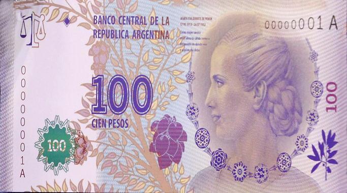 Advertencia del BCRA sobre billetes falsos de $100