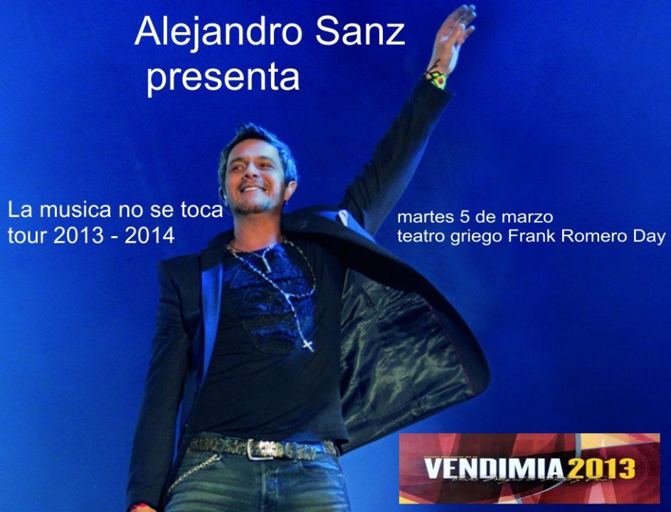 Alejandro Sanz cierra los festejos vendímiales