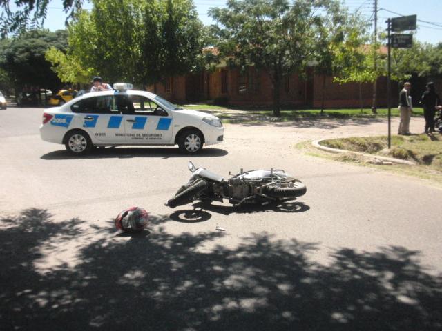 Insólito: colisionaron dos motos