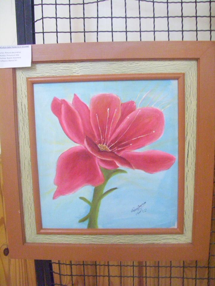 Muestra de pintura en tela y tallado en madera d a del for Telas del sur