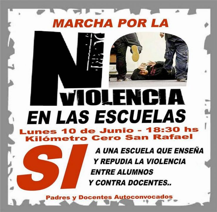 Marcha por la no violencia en las escuelas