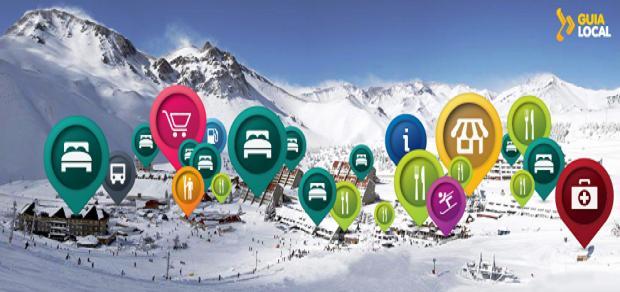 Todo el centro de ski Las Leñas en un mapa interactivo