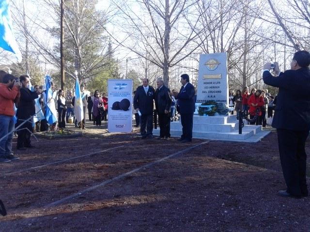 Inauguraron Monumento ARA General Belgrano en General Alvear