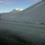 nevada en alta montaña