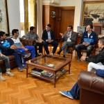 Visita de deportistas mendocinos que participaron en los Panamer