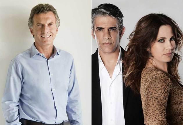 "Mauricio Macri le deseó ""suerte"" a Pablo Echarri y Nancy Dupláa por ""La Leona"""