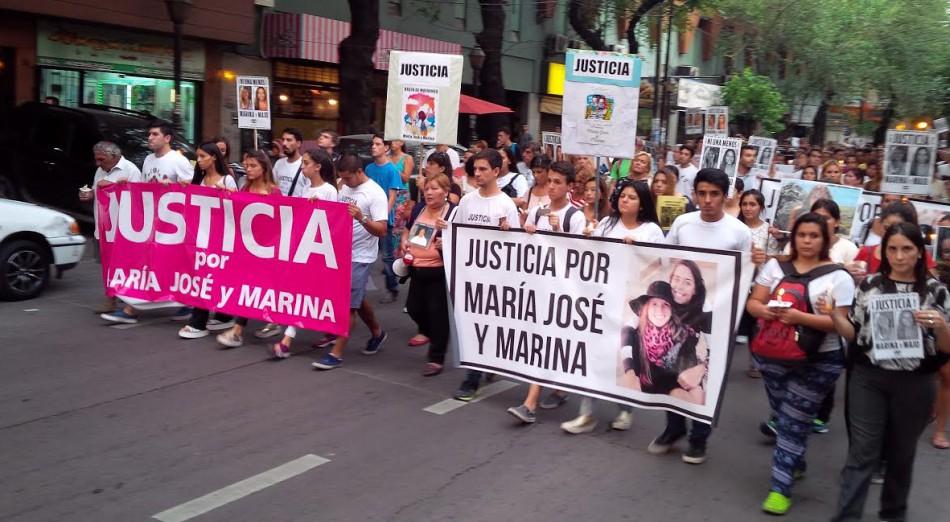 Mendoza marchó por Majo y Marina