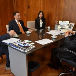 Cornejo avanza en la relación comercial con China