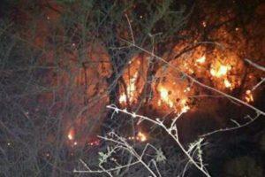 Siguen descontrolados los incendios  en las sierras de San Luis