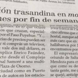 Creció presencia de argentinos en Chile