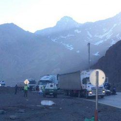 Ruta a Chile cortada por choque en cadena