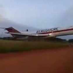 Video muestra el intento de despegue del Boeing 727