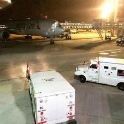 ¿Que hacen en Ezeiza camiones blindados junto a American Airlines?