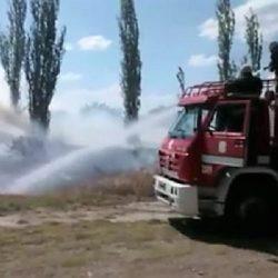 Incendio a metros de la Rotonda