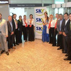 Sky Airline inauguró su ruta entre Mendoza y Santiago