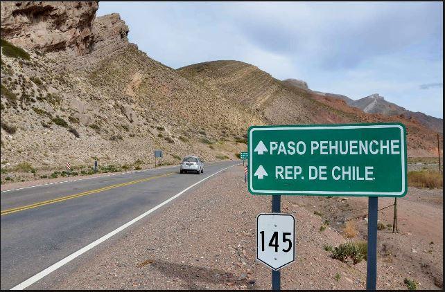 Inauguración de la Ruta Nacional 145 Paso Pehuenche