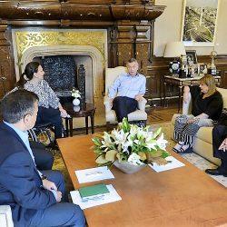 Sanz participó de una reunión de coordinación con Macri