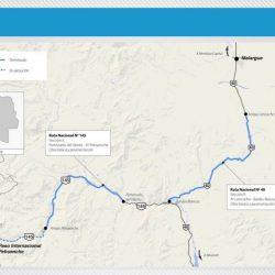 La ruta 145 recién asfaltada quedará bajo el agua