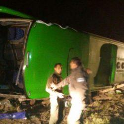 15 muertos al volcar un colectivo en Horcones