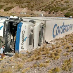 Volcó un camión en la ruta a Chile
