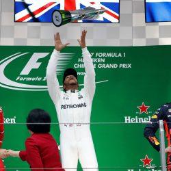 Hamilton ganó el Gran Premio de China de Fórmula 1