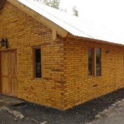 Con bloques de madera construyen un barrio