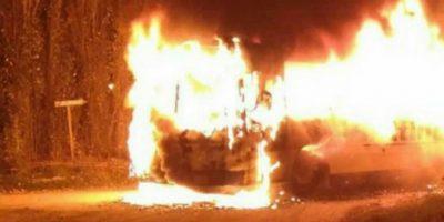 Se incendió un colectivo de Buttini