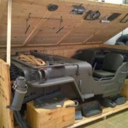 Sorprendente embalaje y transporte de los Jeeps en la Segunda Guerra Mundial