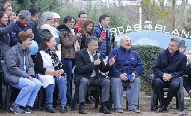 Vergara Martínez elogió a su pueblo ante el Presidente. Video