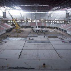 Planean inaugurar antes de fin de año el estadio techado de la Villa Olímpica