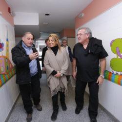 Claudia Najul visitó San Rafael para entregar nuevos equipos a centros de salud
