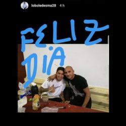 "Cristian ""Lobo"" Ledesma saludó a Luciano Cabral por Instagram"