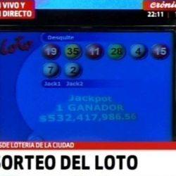 Un apostador ganó más de 530 millones de pesos en el Loto