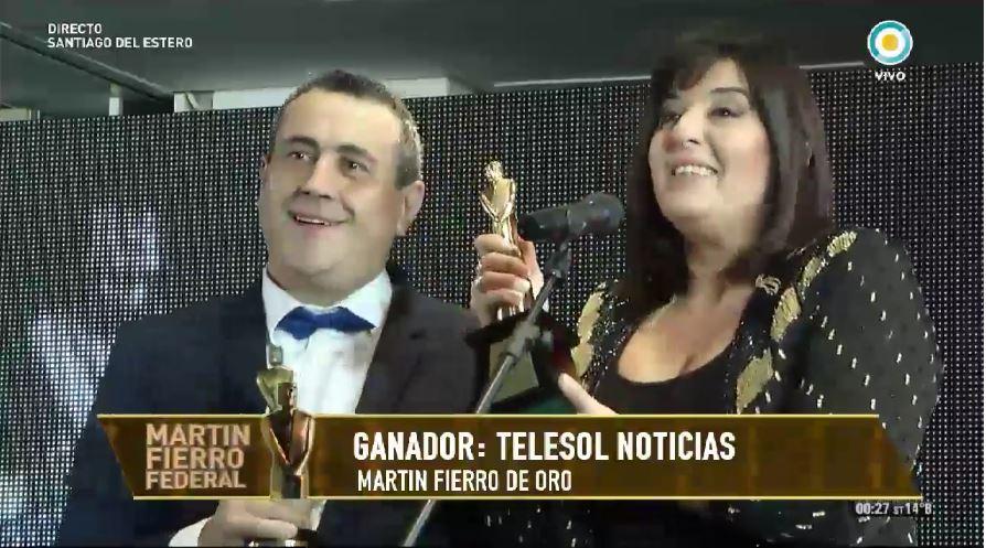 Martín Fierro Federal: el Oro fue para Telesol Noticias de San Juan