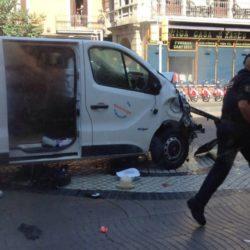 Atentado terrorista en La Rambla en Barcelona