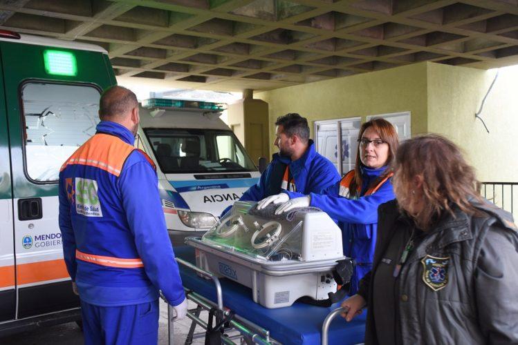 Helicóptero sanitario trasladó a un bebé