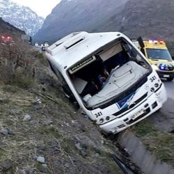 Incidente en la ruta a Chile con 9 heridos