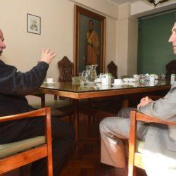 Jaime Correas recibió al presidente del Instituto Nacional Sanmartiniano