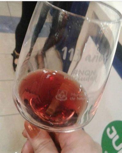 Neuquén celebra aniversario grabando copas de vino