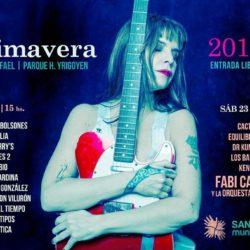 Fabiana Cantilo y 16 bandas sanrafaelinas en los festejos de la primavera