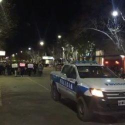 Marcha de apoyo al Policía Pablo Colilaf