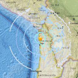 Sismo de magnitud 5,7 sacudió la costa de Tarapacá, Chile