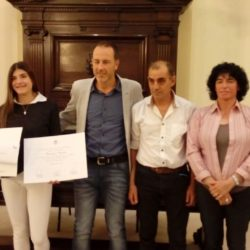 Valentina nuevamente al podio: hoy recibió una distinción del Senado mendocino