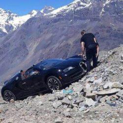 Se despistó una Bugatti en el cruce hacia Argentina desde Chile