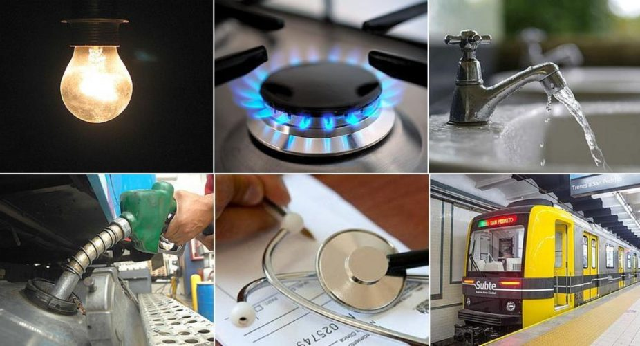 Aumentos: serían 6 entre naftas, gas, luz y transporte hasta abril