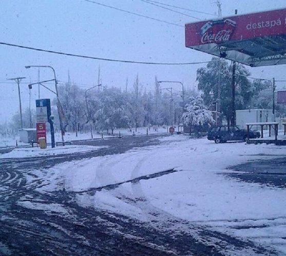 Nieva en El Sosneado
