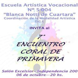 """7mo Encuentro Coral de Primavera"""