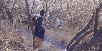 Hallaron un cuerpo en el río Chubut
